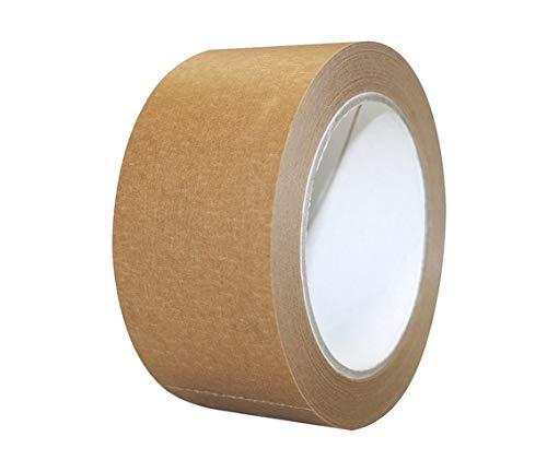 EMMEPACK - 6 cintas adhesivas de papel marrón – Eco-Kraft, 50 mm...