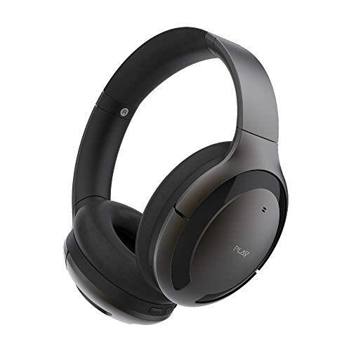 PLAYGO BH70 AI Based Headphones with Hybrid Active Noise Cancellation, Smart Touch & Talk and Auto Pause & Play (Medallion Brown)