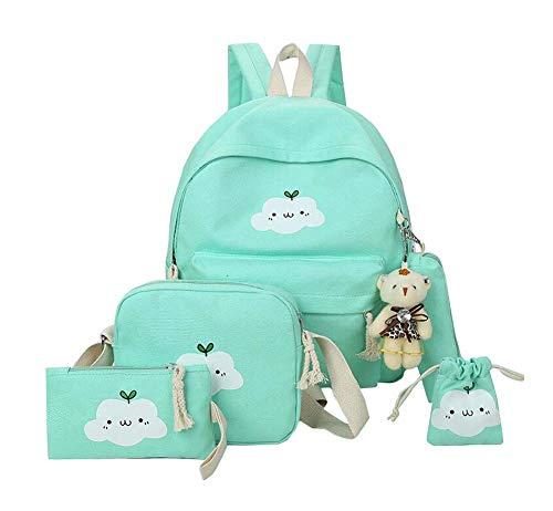 14 pouces de grande capacité Sac à dos Set avec sac à bandoulière et sac à main