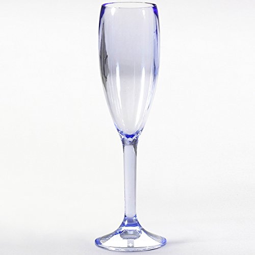 Siehe Beschreibung Polycarbonat Sektglas Bellini blau, 150 ml, 2 Stück • Camping 2x150 ml Wasserglas Trinkglas Kunststoff bruchfest