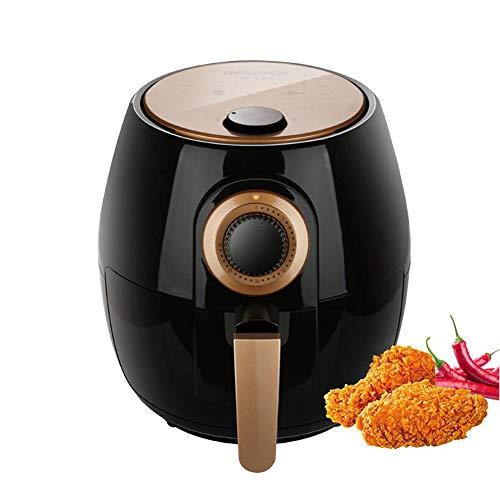 QOUDU Air Fryer, gesundes, ölfreies, fettarmes Kochen, 30-Minuten-Timer und einstellbare Temperaturregelung, elektrische Multifunktionsfritteuse, Frittiermaschine, Hühnerflügel