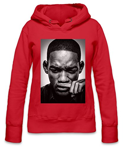 Will Smith Blows Coke Cocaine Drugs Fresh Prince Womens Hoodie Large