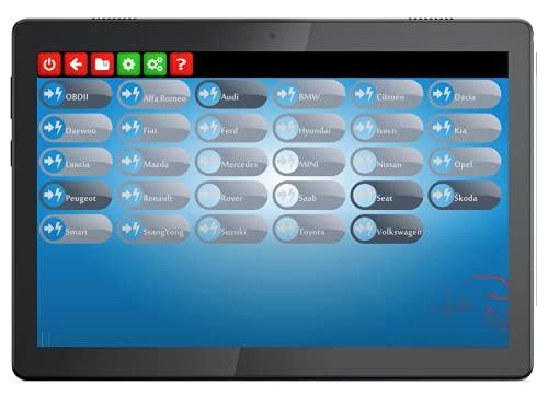 MaxiECU 2 + Tablette Tactile 10 Pouces Pack 18/19 /43 Marques - Valise Diagnostic Auto Pro Multimarques - Diag Tous Systèmes/Entretiens & Vidanges/Injecteurs/FAP (Pack 43 Marques)