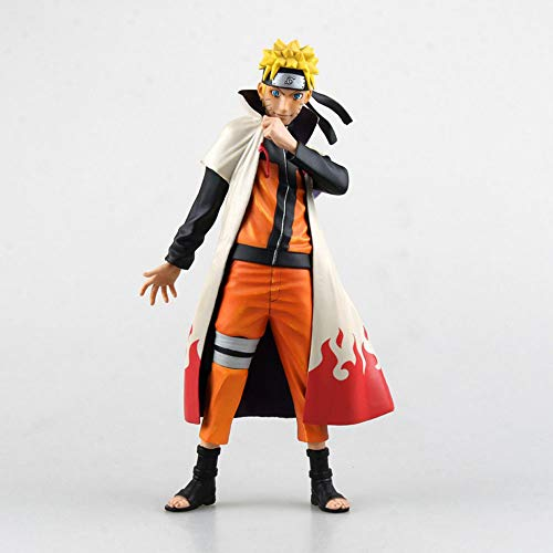 ZDYHBFE Naruto Fighting Four Generations Naruto Disfraz Uzumaki Naruto Escultura Juguete decoracin Modelo Altura 25cm