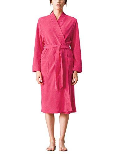 Walbusch Damen Leichtfrottier Bademantel einfarbig Pink 44