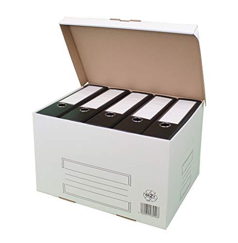 karton-billiger Archivschachteln Aktenkarton Archivkarton Archivbox mit Klappdeckel 10Stück - weiß
