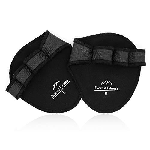 EVEREST FITNESS 1 Paar Profi-Griffpolster für Hanteltraining, Klimmzüge und Gewichtheben in schwarz   Grip-Pads, Trainingshandschuhe, Grip-Polster, Hand-Guard, Palm-Protector