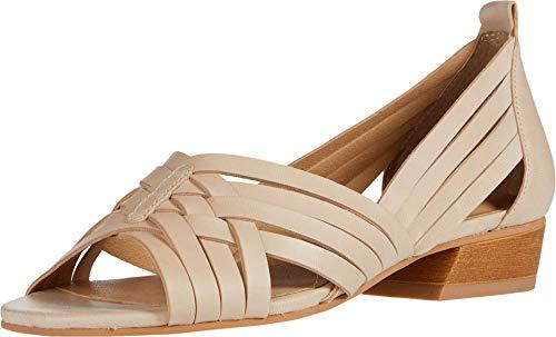 Lucky Brand Women's JARISE Heeled Sandal, Stone, 7 M US
