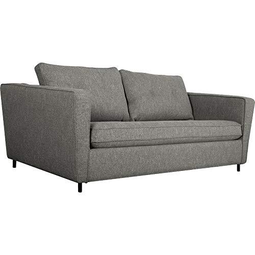 Meubletmoi BORY 3064 - Sofá de 3 plazas convertible en tela gris