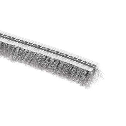 uxcell Brush Weather Stripping, Card-Slot Seal Strip Pile Weatherstrip Sweep Elastic Brush for Door Window, 10M/32.8Ft Length, 5x6mm/WxH