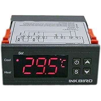 Inkbird ITC-1000 デジタル 温度コントローラ サーモスタット °Cと°Fの切り替え 2リレー センサー付き -50℃~99℃ (12V)