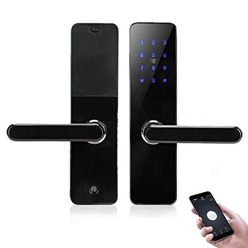 Cerradura WiFi  Tarjeta   huellas dactilares   Llaves   compatibles con Amazon Alexa