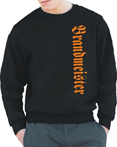 feuer1 Sweatshirt Black, Brandmeister (vertikal) anstatt Ihr wisst Schon… - das Original