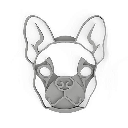 3DREAMS Hunde Ausstecher und Lesezeichen French Bulldog und Mops Ausstecher Weihnachten (Frenchy Face klein)