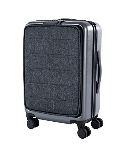 (新規開店)スーツケース 軽量 フロントオープン 静音キャスター TSAロック ファスナー式 スムーズ走行 防撥水加工 ビジネス 旅行用 キャリーバッグ 出張 シンプル おしゃれ 3日泊 42L キャリーケース sサイズ トランクケース
