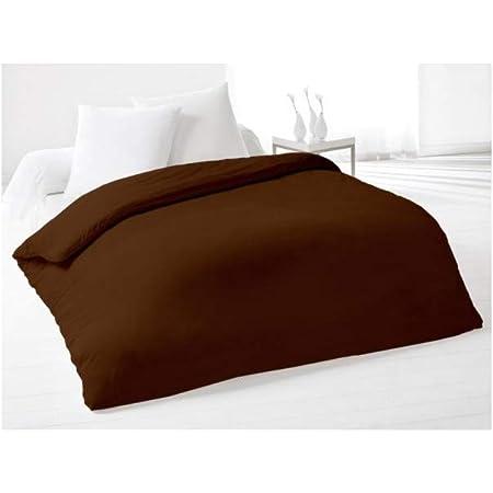 Soleil d'Ocre 635705 Housse de Couette Coton Chocolat 240 x 220 cm