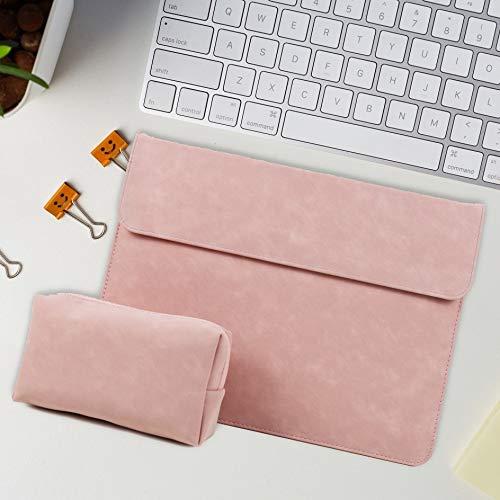 Bolso Portátil 15.6 para MacBook Pro 13 Case Funda MacBook Air 13 M1 A2337 A2338 Maletín De Manga 11 12 13 14 15 16 (Color : Style1 Pink, Size : 15 Inch Ret A1398)