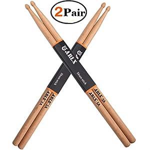 Drum Sticks 5A Wood Tip Drumstick (2 Pair Oak)