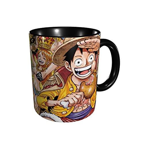 3D One Piece Anime Taza de cerámica Taza de café Taza de té Taza de porcelana Set de tazas, perfecto para regalos de Navidad - 330 ml