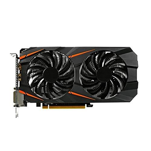 SIJI Ventilador de gráficos Tarjeta Gráfica De Escritorio PC Fit For Gigabyte GTX1060 6GB Tarjeta De Video Mapa GPU para NVIDIA GeForce 192bit HDMI PCI-E X16 Gráficos del Juego