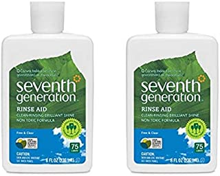Seventh Generation Rinse Aid Free and Clear – 8 fl oz, Packaging May Vary (Pack of 2)