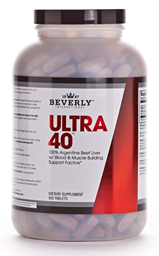 Beverly International Ultra 40 - Beef Liver Concentrate 500 tabs