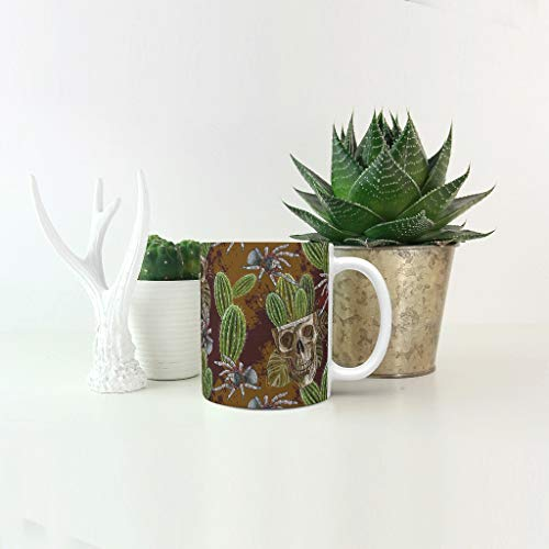 O5KFD & 8 11 ounce muesli beker met handvat hoogwaardige keramische mok - herengeschenk, voor kantoor te gebruiken