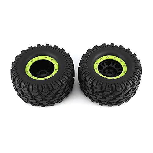 UJETML (H) Neumáticos RC Crawler 2pcs 3013r Rueda llanta llanta para REDCAT 1/8 0 Camión 17mm RC Modelo de Coche Piezas de Repuesto Accesorios Neumáticos RC Slash 4x4 Neumáticos (Color : Black-Green)