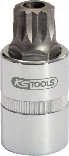 """KS Tools 150.9364 Llave de vaso para el servicio de aceite, XZN M16 con agujero (tamaño: 1/2"""")"""