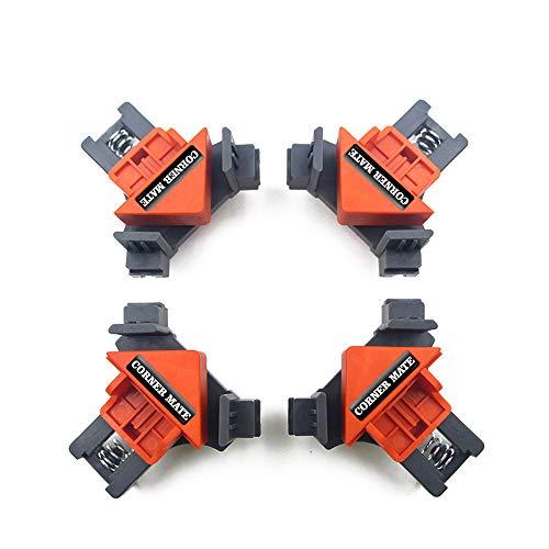 Abrazadera de ángulo recto de 90 grados,Abrazaderas de esquina herramientas carpinteria madera Fijación rápida Marco de imagen