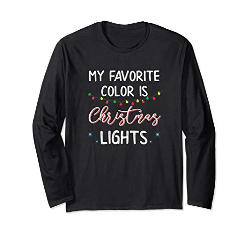 My Favorite Color Is Christmas Lights L/S Shirt Candy Cane