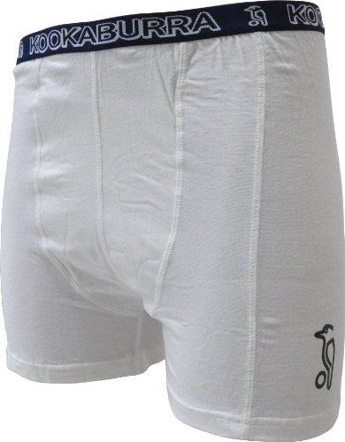 Kookaburra Cricket Shorts DK316 - Neutral/Blauer Bund, Baumwolle/Lycra, S Jungen