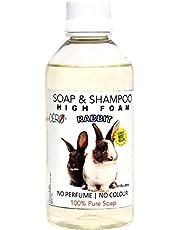 CERO High Foam Shampoo for Rabbit, NO Perfume   NO Colour, 100% Pure Soap (200ml)