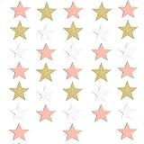 Oro Intermitente Estrella De Cinco Puntas Guirnalda Colgante Colgante Decoración Del Banquete De Boda 20 Metros Platino rosa