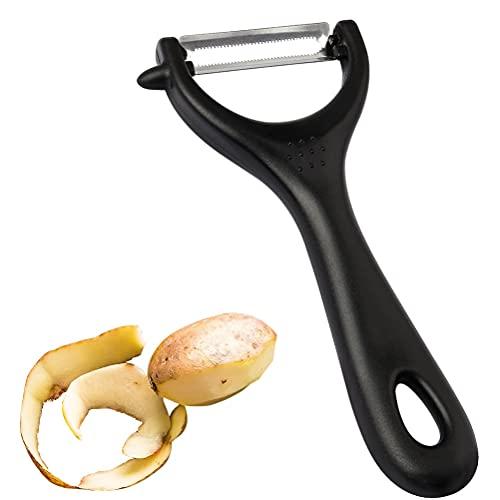 Potato Peeler Stainless Steel Blade, Y Shape Apple Peeler, Vegetable Fruit Peeler for Kitchen (Black)