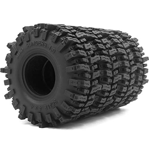 hobbysoul 4Stk RC 1.9 Mud Slingers Reifen Super Grip Tires Tyre Höhe 120mm Fit 1.9 Beadlock Felgen Wheel Rim