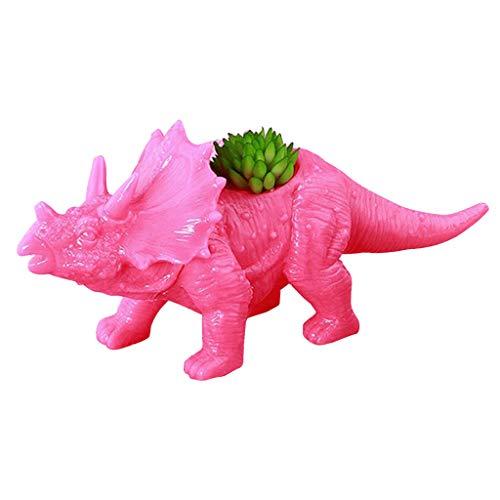 Plastikdinosaurier-Blumentopf, Kaktus-saftiger Blumentopf Für Innenministerium-Schreibtisch-Verzierungs-Garten-Dekoration