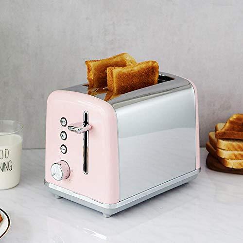 Máquinas para hacer pan más vendidas, ensanchar las máquinas para hacer pan, la bandeja para migas es limpia e higiénica panificadora para el hogar 6 control de potencia de fuego como quieras rosa