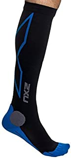 2XU Men's Hyoptik Athletic Reflective Compression Socks