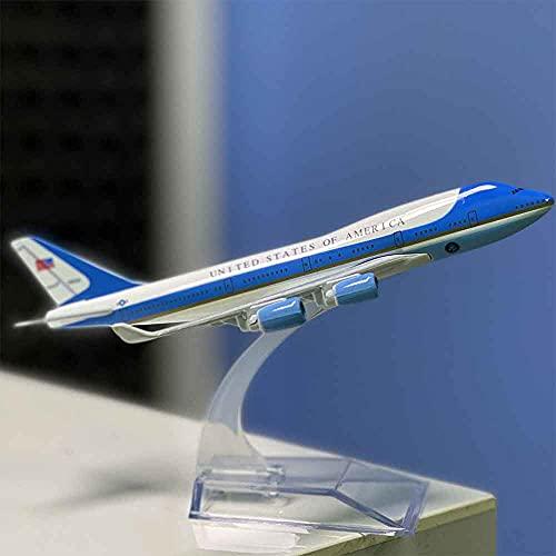 Maqueta de metal fundido en avión, colección Air Force One Boeing 747 USA
