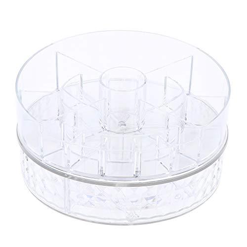 MagiDeal 360 Rotierenden Make Up Organizer, 2 Schichten Multifunktions Make Up Karussell Spinning Halter Lagerregal Große Kapazität Cosmetics Organizer Box Für - A