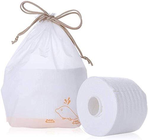 3 rouleaux de serviettes de visage en coton de nettoyage de visage jetable non tissé doux tissus de coton pour enlever le maquillage du visage, les yeux et le vernis à ongles tissu facial cxjff
