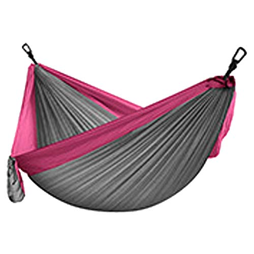 Hammock Camping, Lightweight Portable Hammocks for Outdoor Hiking Travel Backpacking Beach Yard- Strongest Parachute Nylon Hammock Swing - Support 400lbs Ropes Carabineers,B