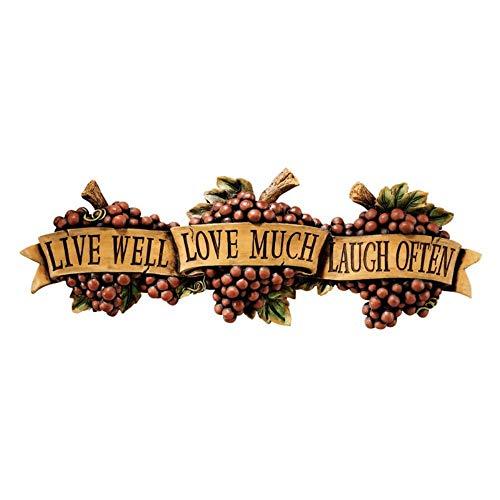 Design Toscano AH240004  Live-Love-Laugh Wall Sculpture,full color