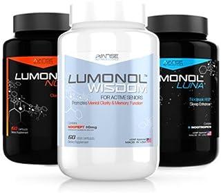 1 Bottle Lumonol Wisdom + 1 Bottle Nova + 1 Bottle Luna (180ct) 1 Month Supply