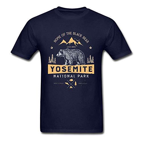 Bleiben Sie wild Wald Berg Bär T-Shirts Yosemite National Park Tier gedruckt Herren T-Shirt Baumwolle benutzerdefinierte Kleidung