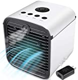 Personal air conditioner,Portable Air Cooler, 4-in-1 Mini Air Conditioner with LED Light and USB Portable Mini Air Conditioner for Home & Office Desk Outdoors Travel(white)