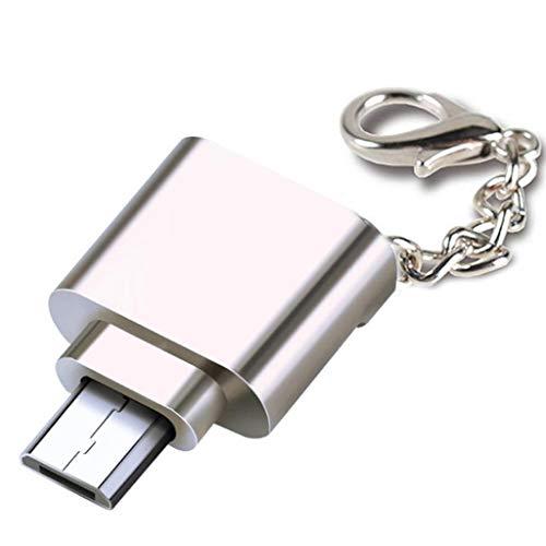 JJZXD Mini Lector de Tarjetas de teléfono móvil Lector de Tarjetas de Memoria USB Micro SD TF Adaptador OTG Lector de Tarjetas USB 3.1 (Color : B)