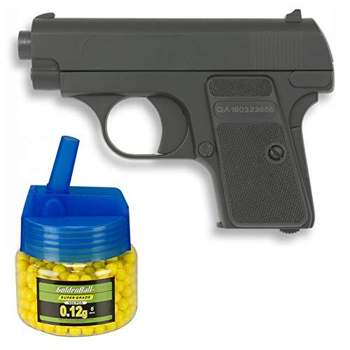 Tiendas LGP, Albainox 38280 Arma Airsoft, Pistola Aire Suave + Biberón 500 Bolas 6 mm. de Regalo