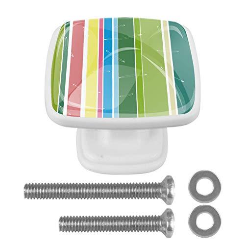 4 pomos de cristal para armarios de cocina, aparadores, armarios, armarios, 4 unidades